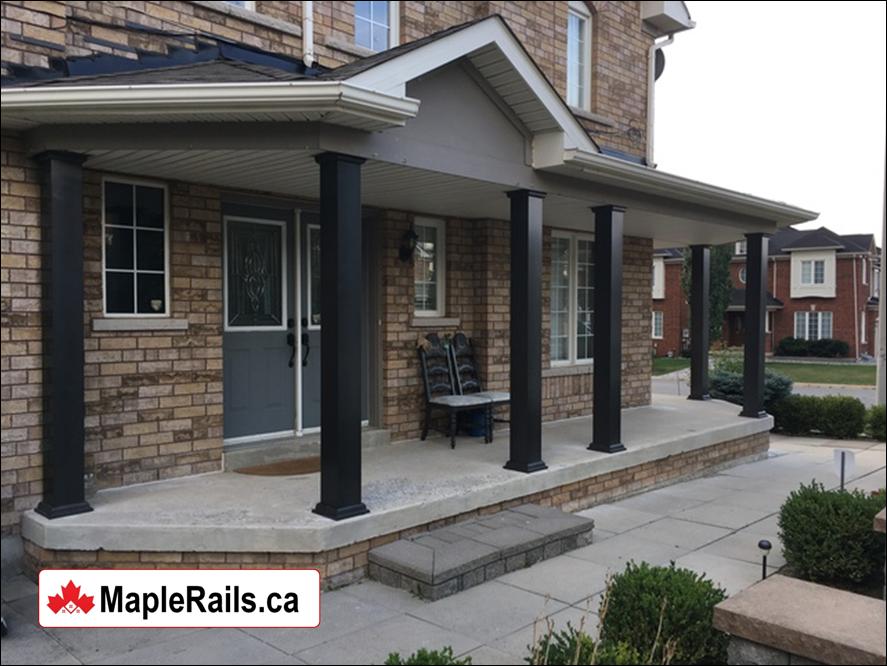 Maple-CLASSIC Aluminum Columns (BLACK) Installation (Kitchener, ON)
