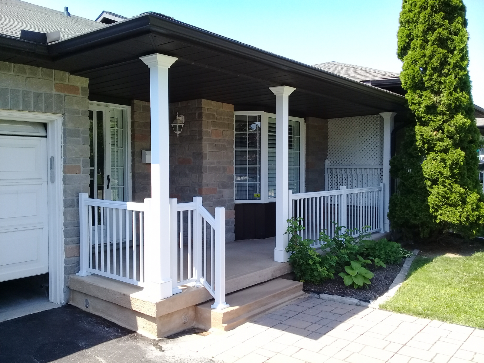 Porch Resurfacing with Bisque Tan Concrete Coating