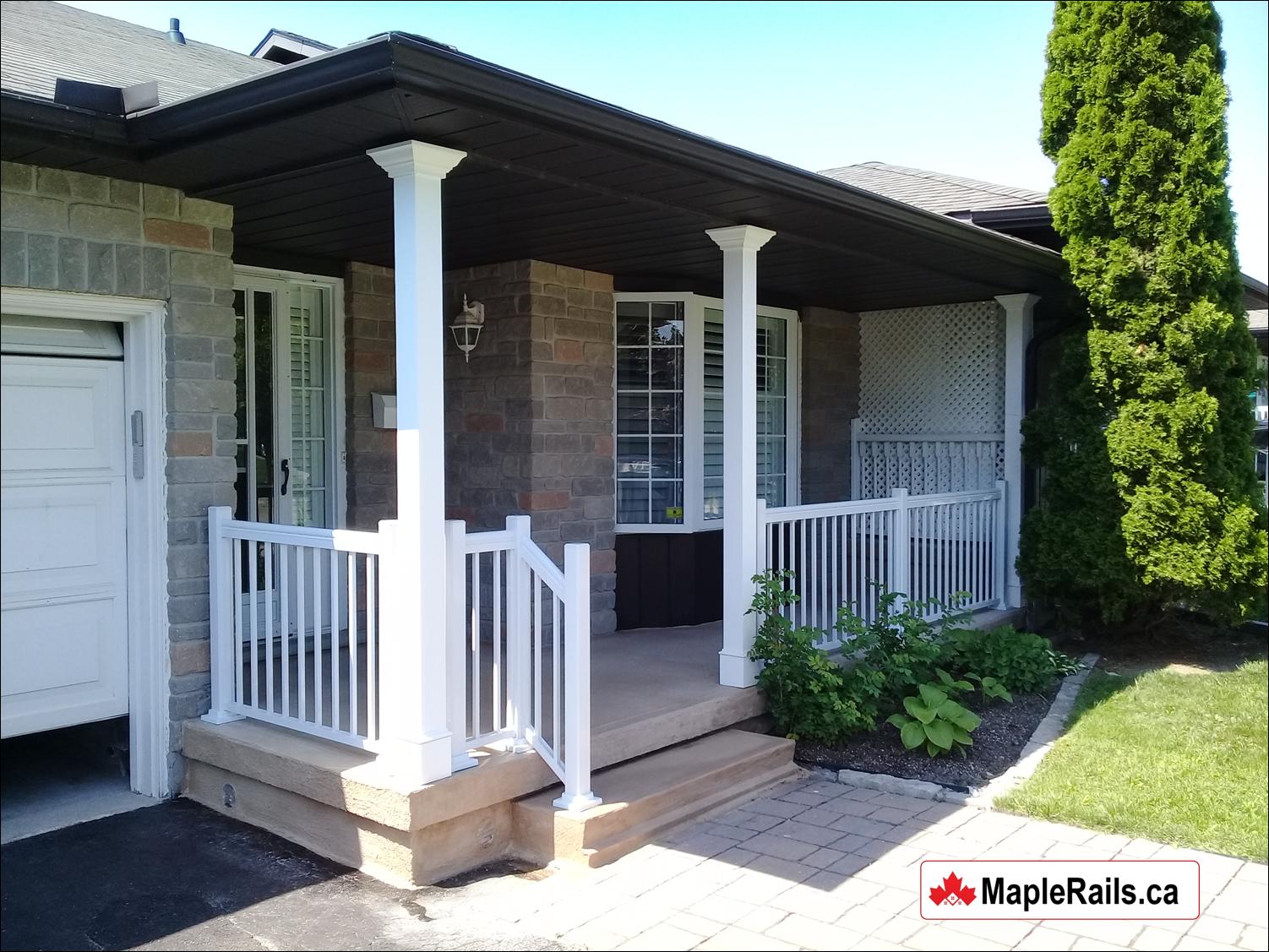 Maple CLASSIC PVC Columns Custom Installation (Kitchener, ON)