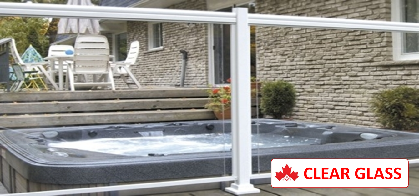 Maple CLEAR GLASS Custom Aluminum Railing Installation Contractor Kitchener, ON
