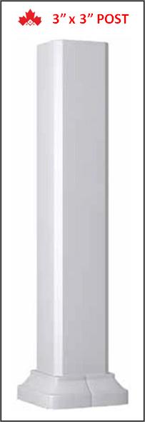 3in x 3in Aluminum Railing Posts