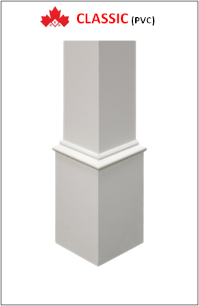 Maple CLASSIC Custom PVC Columns Installation Contractor Kitchener, ON