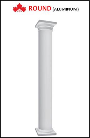 Maple ROUND Custom Aluminum Columns Installation Contractor Kitchener, ON