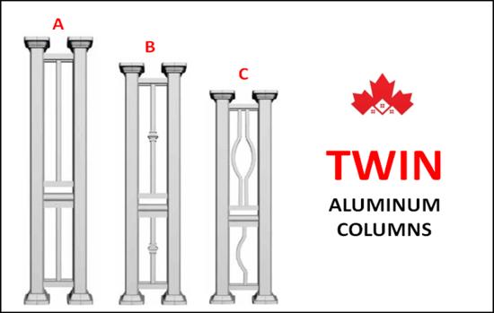 Maple TWIN Series Double Aluminum Columns Installation Kitchener, ON