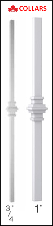 Aluminum Railing Spindles with Collars