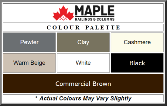Custom PVC Column Colors