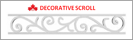 Decorative Railing Scroll